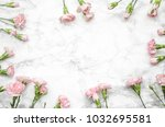 carnations flowers on a marble...