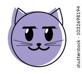 moved color glad cat face emoji ... | Shutterstock .eps vector #1032698194