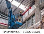 install fire sprinkler system.... | Shutterstock . vector #1032702601