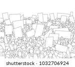 illustration of large crowd of... | Shutterstock .eps vector #1032706924