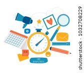time management  planning... | Shutterstock .eps vector #1032708229
