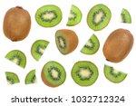 Sliced Kiwi Fruit Isolated On...