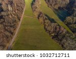 bird's eye view in the forest  | Shutterstock . vector #1032712711