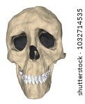 deformed human skull in cartoon ... | Shutterstock .eps vector #1032714535