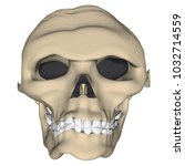 deformed human skull in cartoon ... | Shutterstock .eps vector #1032714559