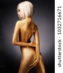 fashion art studio photo of... | Shutterstock . vector #1032716671