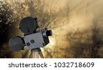 old style movie projector ... | Shutterstock . vector #1032718609