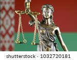 symbol of law and justice with... | Shutterstock . vector #1032720181