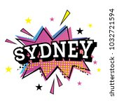 sydney australia comic text in... | Shutterstock .eps vector #1032721594