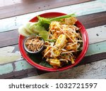 fried noodle thai style  pad... | Shutterstock . vector #1032721597