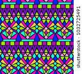 tribal pattern. ethnic print.... | Shutterstock . vector #1032725491
