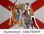 symbol of law and justice with... | Shutterstock . vector #1032730495