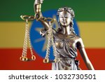 symbol of law and justice with... | Shutterstock . vector #1032730501