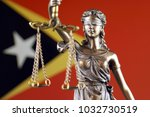 symbol of law and justice with... | Shutterstock . vector #1032730519