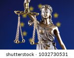 symbol of law and justice with... | Shutterstock . vector #1032730531