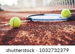tennis game. tennis ball with... | Shutterstock . vector #1032732379