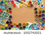decorative composition frame... | Shutterstock . vector #1032742021