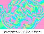 close up of iridescent... | Shutterstock . vector #1032745495