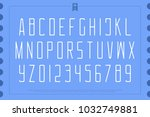 light style alphabet letters... | Shutterstock .eps vector #1032749881