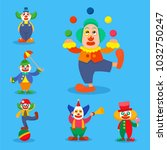 clown vector circus man... | Shutterstock .eps vector #1032750247