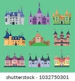 cartoon fairy tale vector... | Shutterstock .eps vector #1032750301