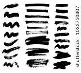 vector set of ink splashes... | Shutterstock .eps vector #1032750307