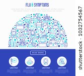 flu and symptoms concept in... | Shutterstock .eps vector #1032754567