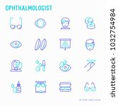 ophthalmologist thin line icons ... | Shutterstock .eps vector #1032754984