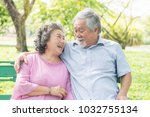 asian healthy senior couple... | Shutterstock . vector #1032755134