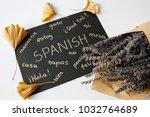 concept of learning spanish...   Shutterstock . vector #1032764689
