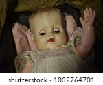 vintage toy baby doll | Shutterstock . vector #1032764701