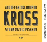 retro style alphabet letters... | Shutterstock .eps vector #1032766495