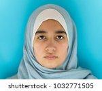 muslim girl portrait | Shutterstock . vector #1032771505