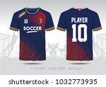 soccer jersey template. mock up ...   Shutterstock .eps vector #1032773935