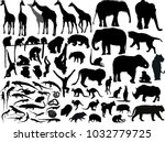 illustration with animals... | Shutterstock .eps vector #1032779725