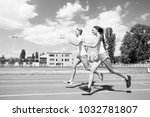 runner on competition and... | Shutterstock . vector #1032781807
