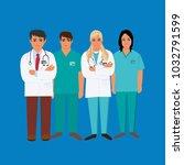 doctors  medical personnel ... | Shutterstock .eps vector #1032791599