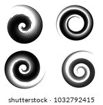 abstract vector spiral elements ... | Shutterstock .eps vector #1032792415