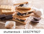 smores dessert ingredients....   Shutterstock . vector #1032797827