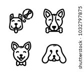 dogs icon set | Shutterstock .eps vector #1032797875