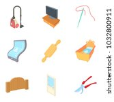 dwelling house icons set.... | Shutterstock .eps vector #1032800911