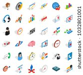 working surface icons set.... | Shutterstock .eps vector #1032801001