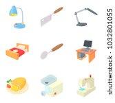residential quarter icons set.... | Shutterstock .eps vector #1032801055