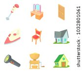 residential district icons set. ... | Shutterstock .eps vector #1032801061