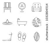 motel service icons set.... | Shutterstock .eps vector #1032804514