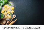 ravioli with spinach and... | Shutterstock . vector #1032806635