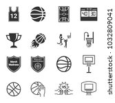 march madness icons  ... | Shutterstock .eps vector #1032809041