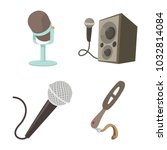 microphone icon set. cartoon... | Shutterstock .eps vector #1032814084