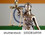 symbol of law and justice with... | Shutterstock . vector #1032816934