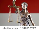 symbol of law and justice with... | Shutterstock . vector #1032816949